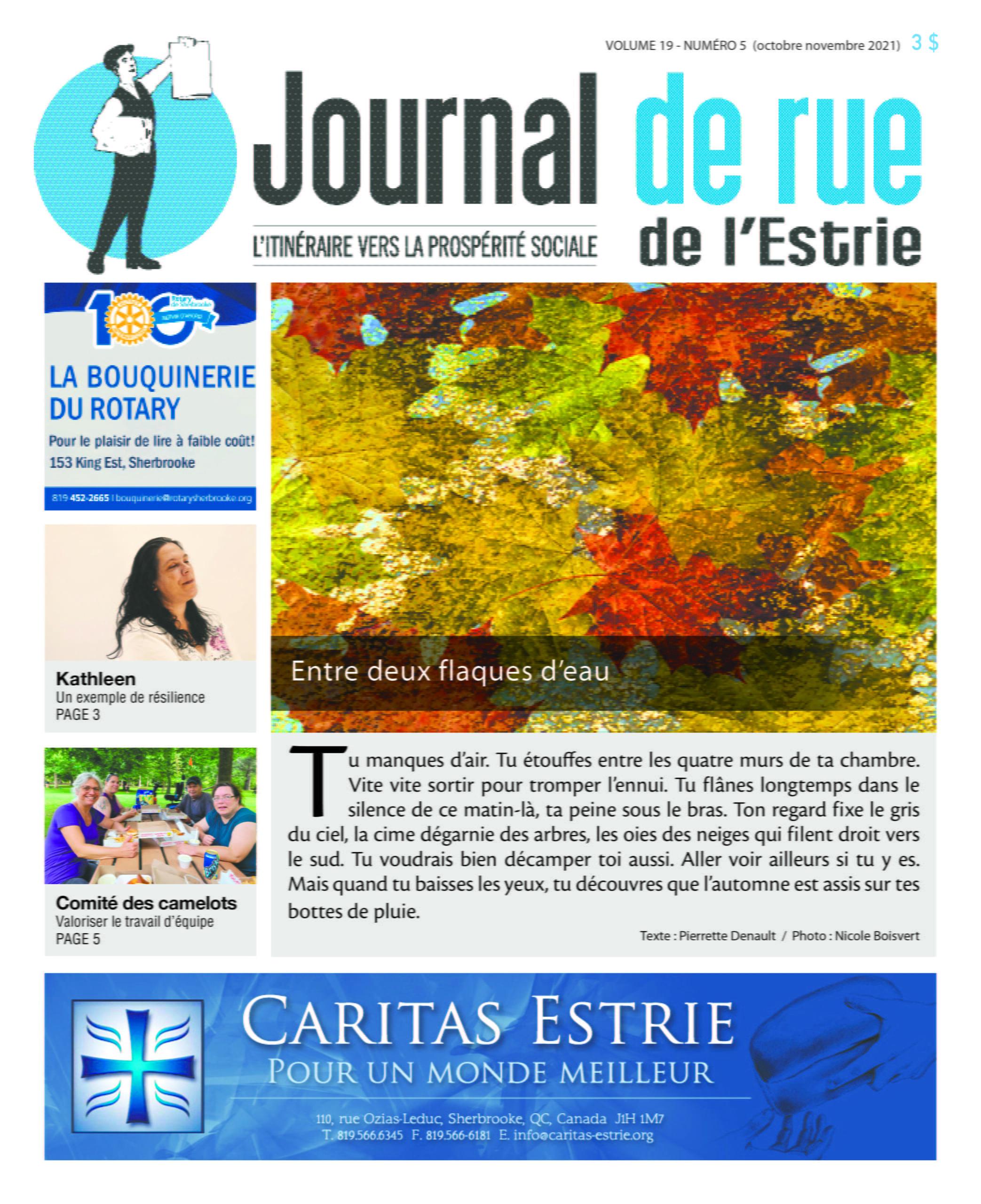 Couverture Journal de rue Numéro 5 Volume 19